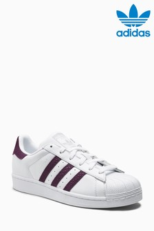 adidas Originals White/Purple Superstar