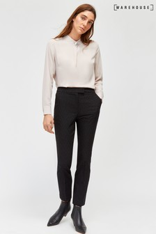 Warehouse Black Spot Cigarette Trousers