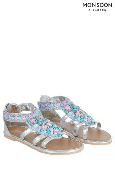 Monsoon Silver Mermaid Beaded Sandal