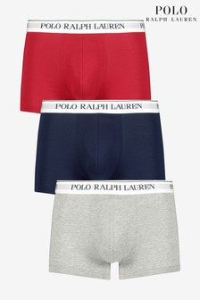 Polo Ralph Lauren® Navy Red Grey Trunks Three Pack