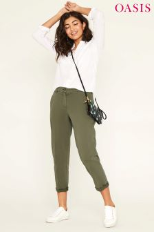 Oasis Green Emmy Chino Trouser