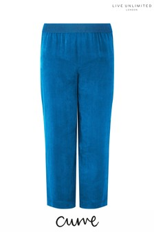 Live Unlimited Blue Cupro Wide Leg Trouser