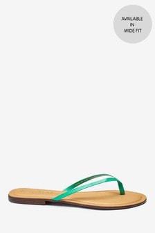 Forever Comfort® Leather Flip Flops