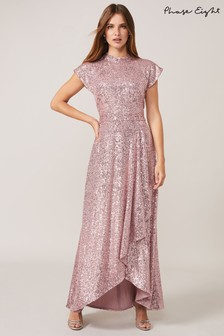 Phase Eight Pink Kendra Sequin Maxi Dress