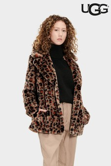 UGG® Rosemary Leopard Print Faux Fur Jacket