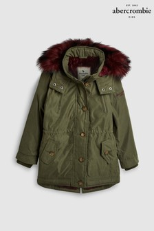 Abercrombie & Fitch Olive Twill Parka