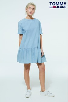 Tommy Jeans Drop Waist Chambray Dress