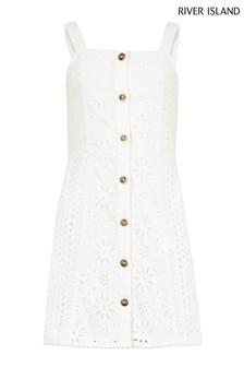 River Island White Cut-Out Dress