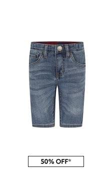 Levis Kidswear Boys Blue Cotton Blend Shorts