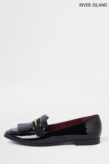 River Island Black Snaffle Loafer