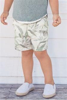 Leaf Print Shorts (3mths-6yrs)