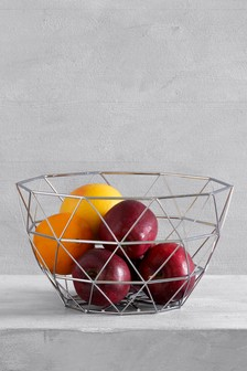 Chrome Wire Fruit Bowl
