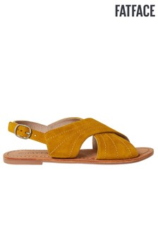 FatFace Yellow Croyde Cross Strap Sandal
