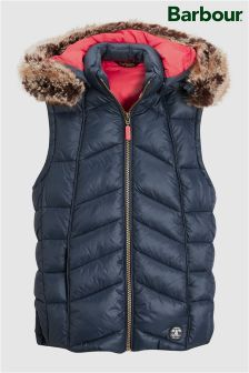 Barbour® Bernera Navy Gilet With Pink Lining