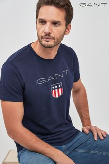 GANT Navy Shield Short Sleeve T-Shirt