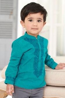 Embroidered Kaftan Shirt (3mths-6yrs)
