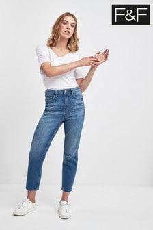 F&F Indigo Straight Leg Jean
