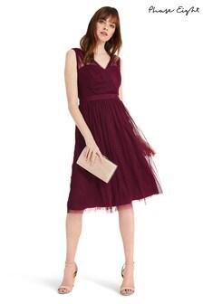 Phase Eight Purple Romy Tulle Bridesmaid Dress