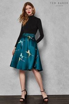 Ted Baker Teal Print Skirt Dress
