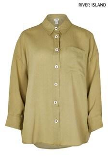 River Island Khaki Oversized Shirt