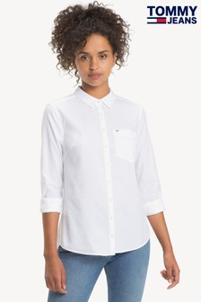 Tommy Jeans White Oxford Shirt