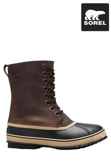 Sorel® Tobacco Brown 1964 Leather Snow Boots