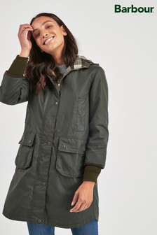 Barbour® Heritage Khaki Waxed Warbler Coat