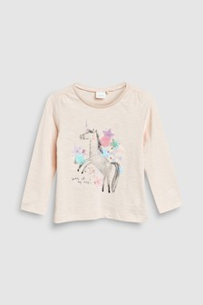 Unicorn Sketch T-Shirt (3mths-6yrs)