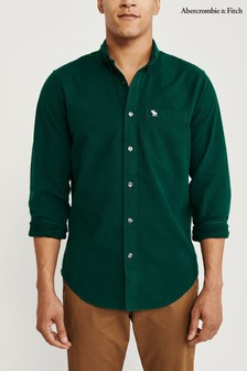 Abercrombie & Fitch Green Oxford Shirt