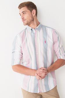 Stripe Roll Sleeve Shirt
