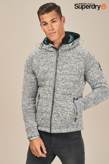 Superdry Grey Storm Quilted Zip Through Hoody