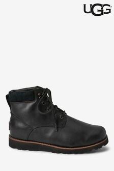 UGG® Mens Black Leather Seton Boots