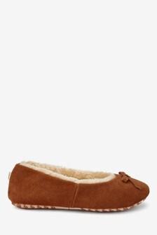 Balerínkové papuče zo semišu
