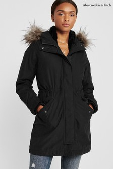 Abercrombie & Fitch Black 3-In-1 Parka Jacket