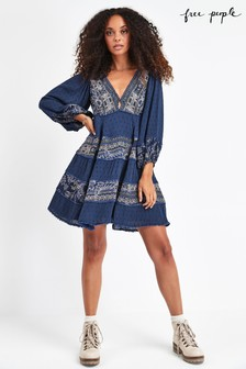 Free People Blue My Love Mini Dress