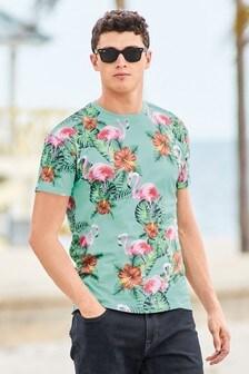 Flamingo Print T-Shirt