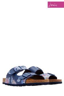 Joules Navy Whistable Floral Penley Sandal