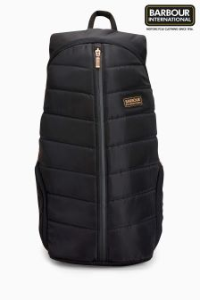 Barbour®International Black Rally Quilted Backpack