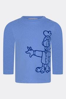 Moncler Enfant Baby Boys Blue Cotton T-Shirt