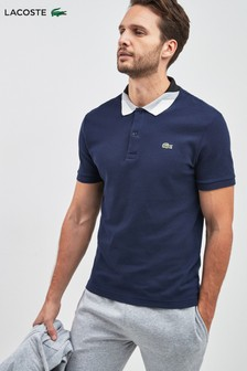 Lacoste® Navy Colour Block Polo Shirt