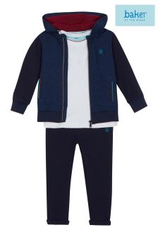 baker by Ted Baker Navy Hooded Baker Three Piece Set