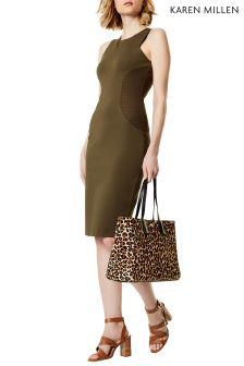 Karen Millen Green Bodycon Jersey Dress