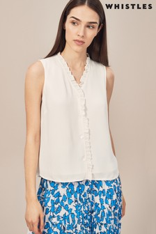 Whistles Maddie Ivory Frll Top