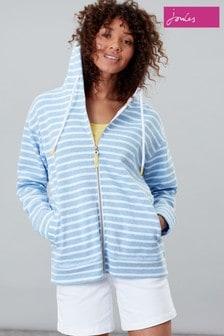 Joules Blue Becca Zip Through Sweatshirt
