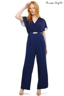 Phase Eight Sapphire Alba Belted Jumpsuit