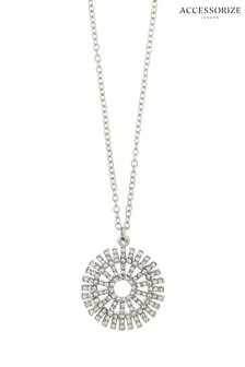 Accessorize Catherine Wheel Diamanté Necklace