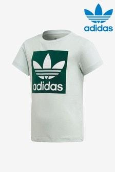 adidas Originals Little Kids Mint Box Logo T-Shirt