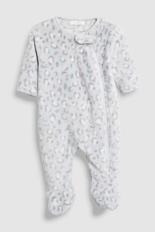 Leopard Print Fleece Sleepsuit (0mths-3yrs)