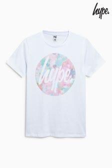Hype. White Circle Print Tee
