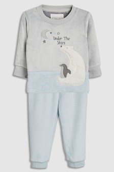 Polar Bear Fleece Pyjamas (9mths-8yrs)